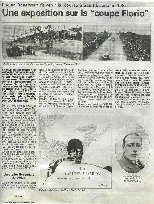La Coupe Florio en 1927 à Saint Brieuc